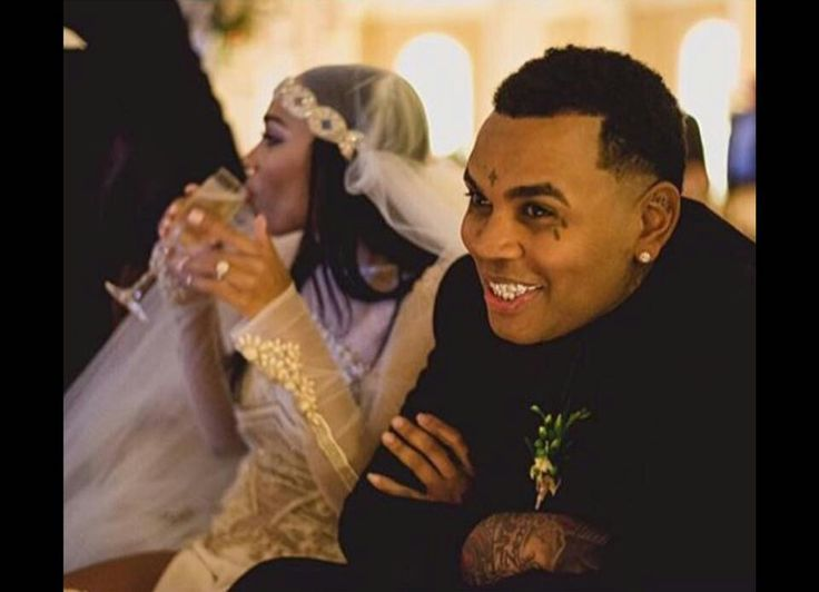 Kevin Gates and Dreka on their wedding day