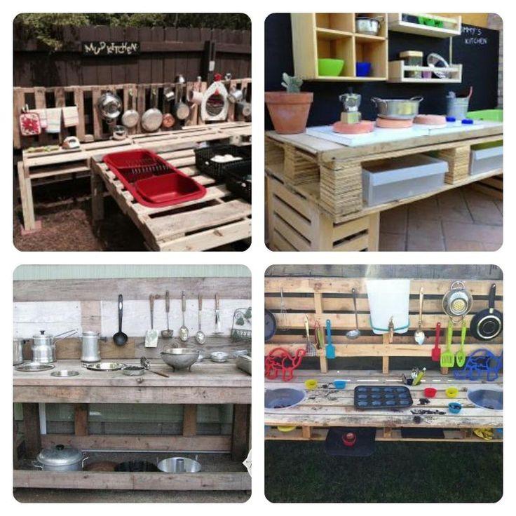 M s de 1000 ideas sobre proyectos de madera para ni os en - Cocinas con palets ...