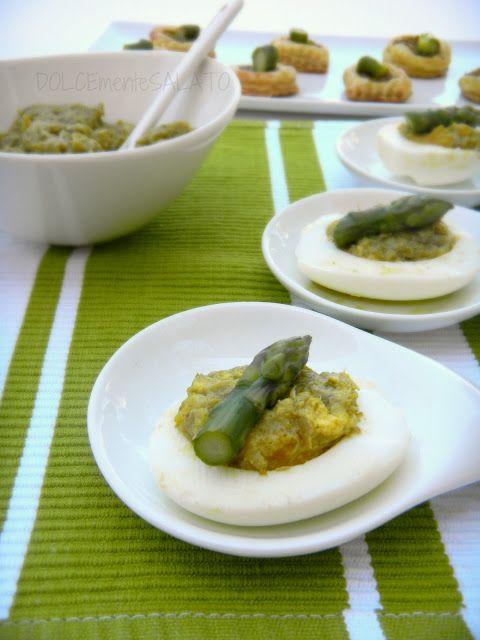 DOLCEmente SALATO: Uova ripiene agli asparagi