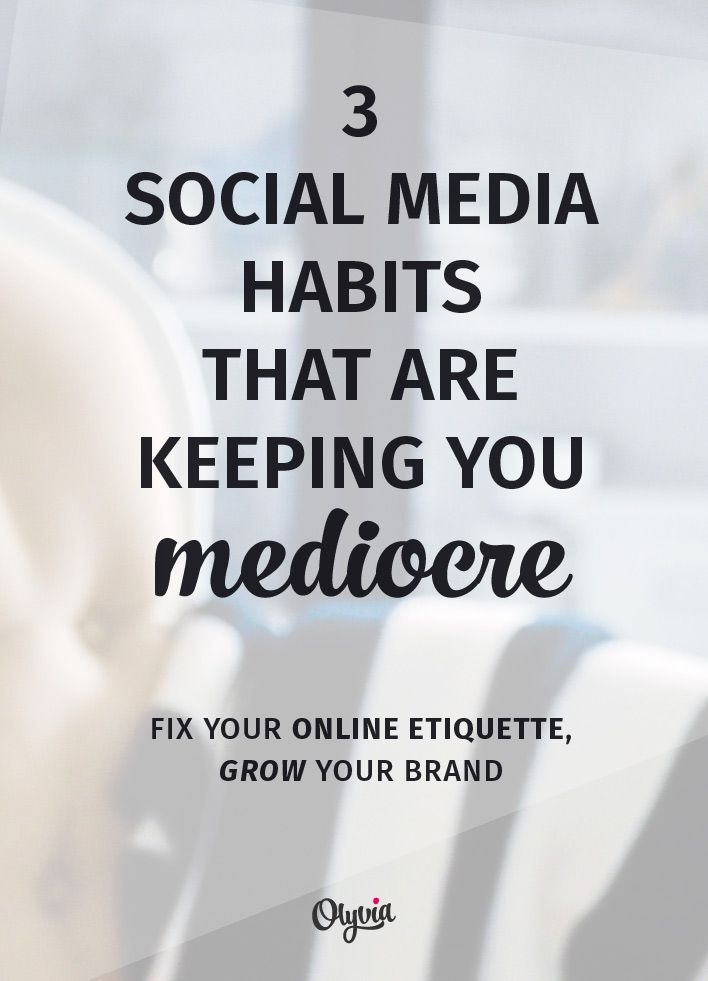 "Sometimes the reason we're not seeing success on social media is that we've picked up some bad habits that keep us ""playing small."" Here's what to watch out for so you can start growing and gaining the engaged followers you want!"