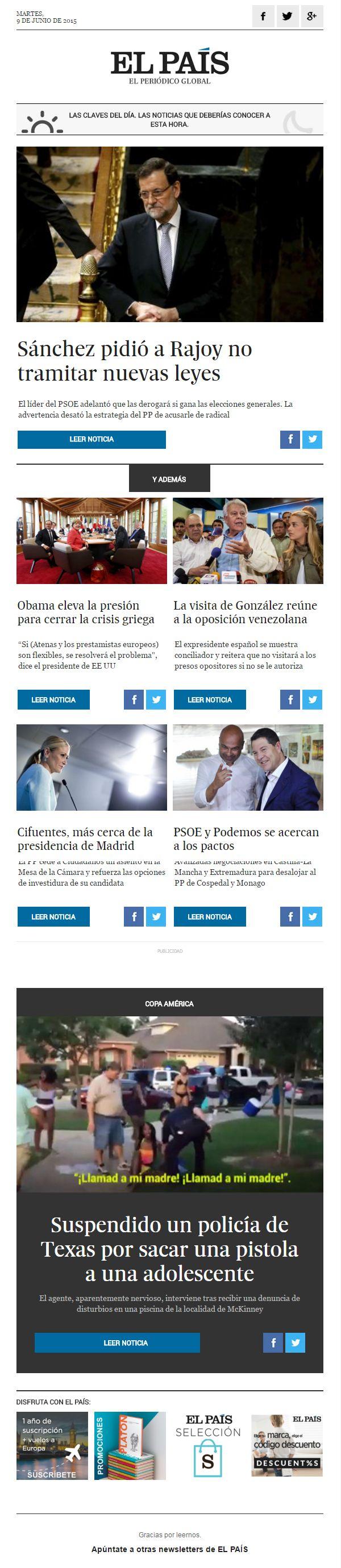 Newsletter El País