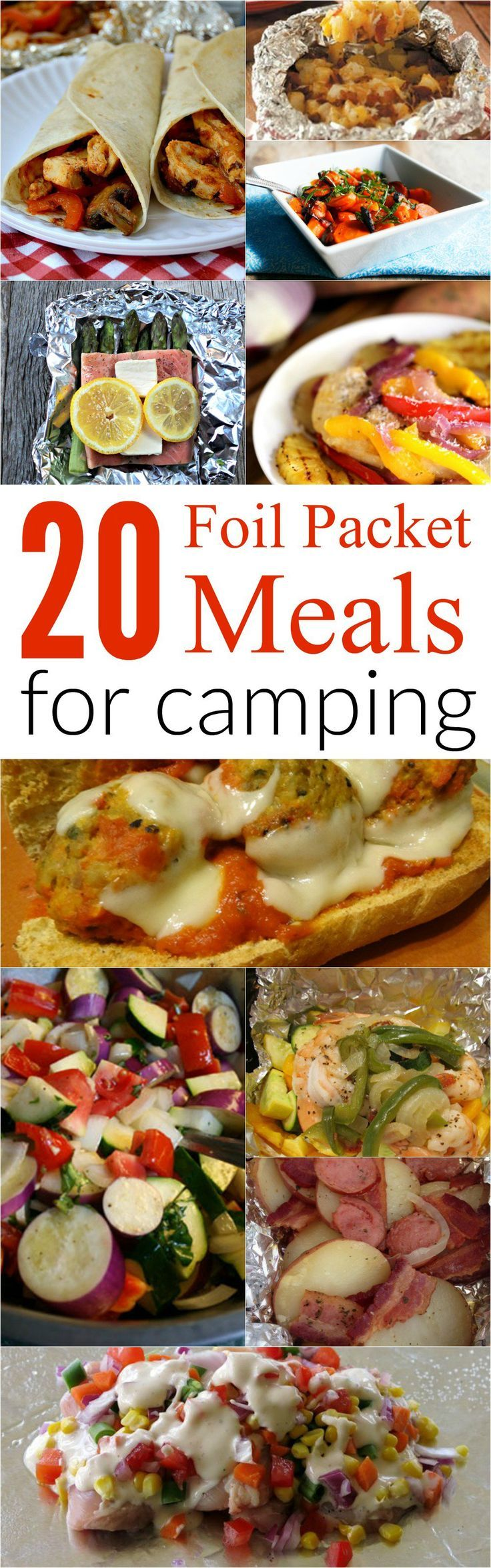 Top 20 Foil Meal Packet Recipes for Camping! Great on-the-go ideas to throw on the grill for dinner!
