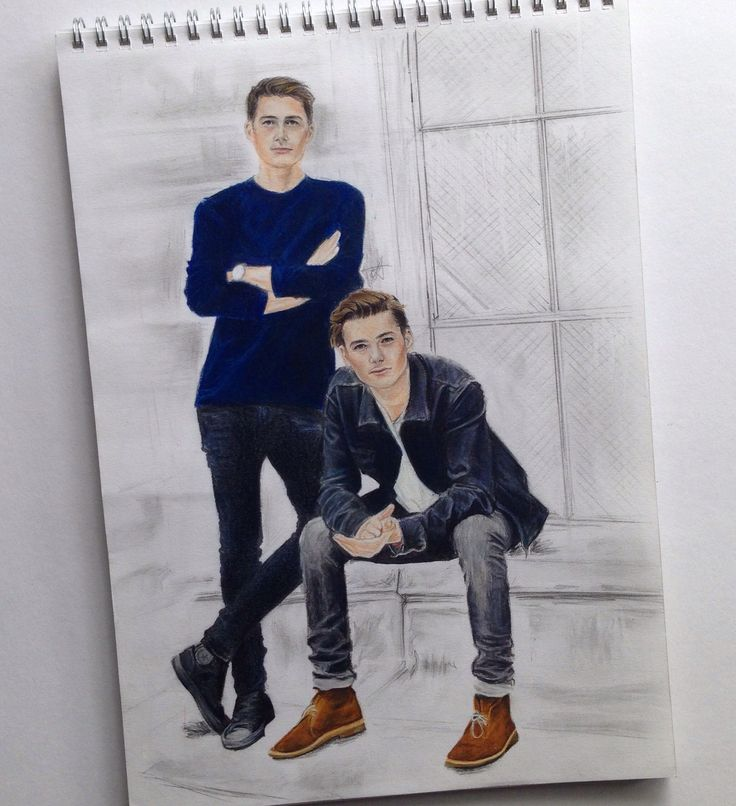 Jack and Finn Harries  Drawing