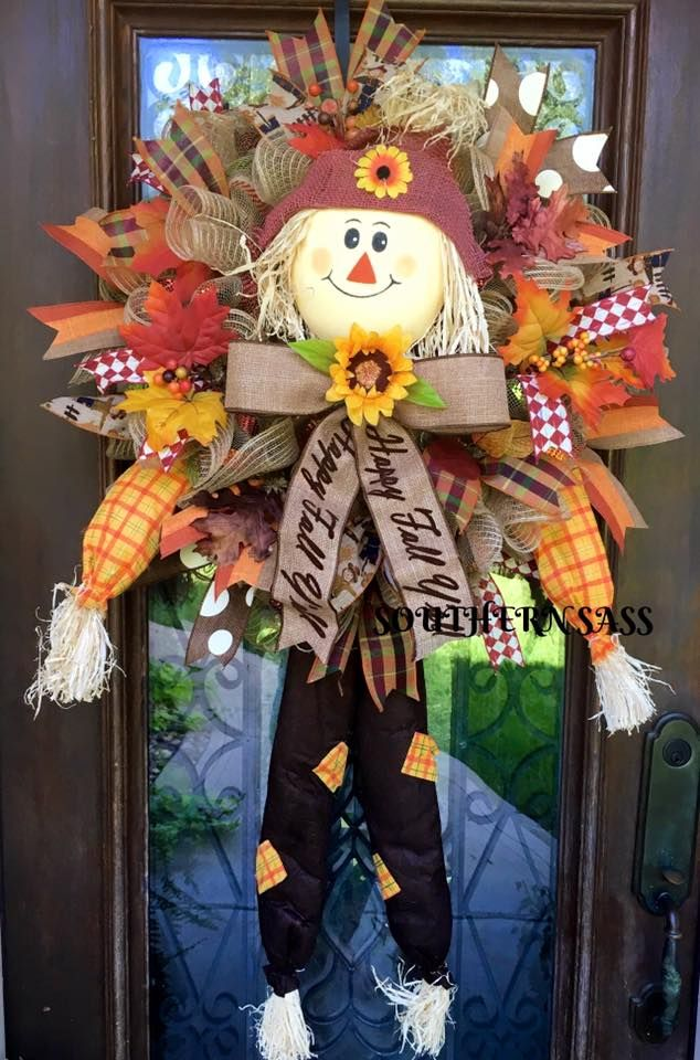 Fall Thanksgiving Scarecrow Wreath The Holidays