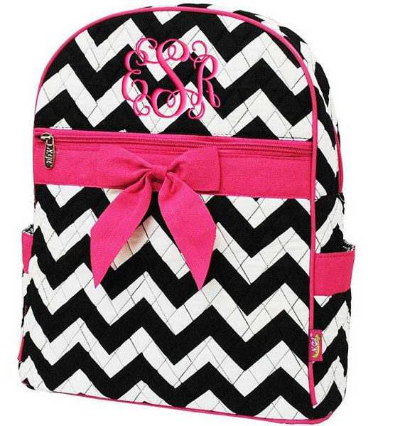 Children Personalized Backpack Chevron Hot Pink by parsik93, $33.99