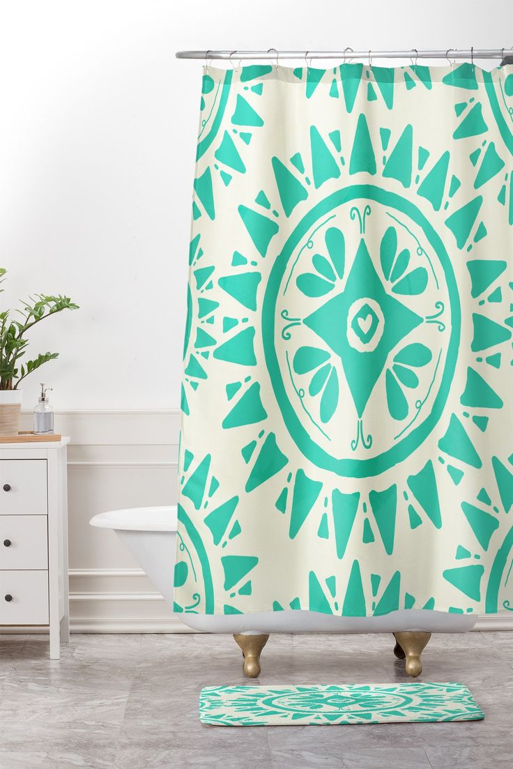 Best 25+ Teal shower curtains ideas on Pinterest   Teal apartment ...