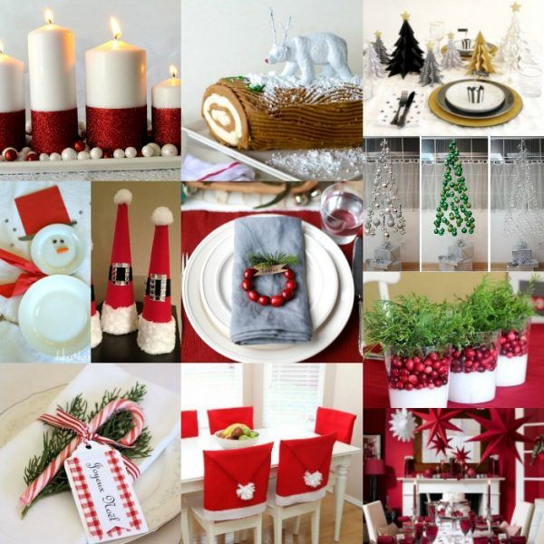 DIY Christmas Table Decorations , The best DIY Christmas