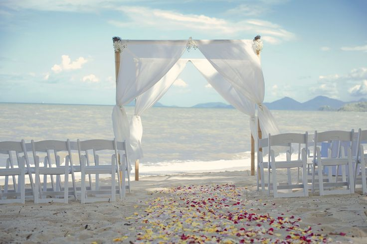 Beach ceremony at Palm Cove
