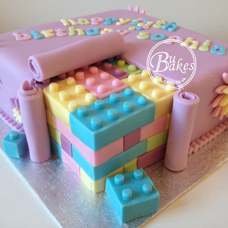 Lego Friends themed cake by bubakes.co.uk                                                                                                                                                                                 Plus