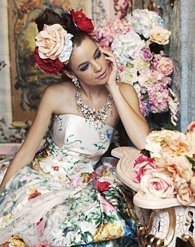 Flower-printed-dress- Stella-de-libero