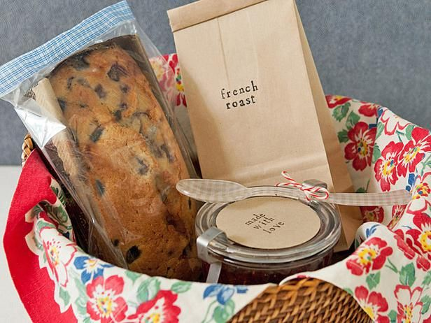 Another lovely Breakfast theme, with homemade cake/bread, coffee beans & jam in canning jar.