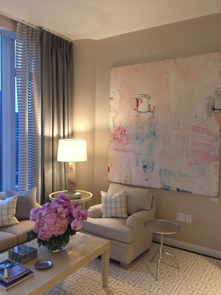 Abstract Painting By Gary Komarin Hanging In The New @baccarat NYC  Residences.