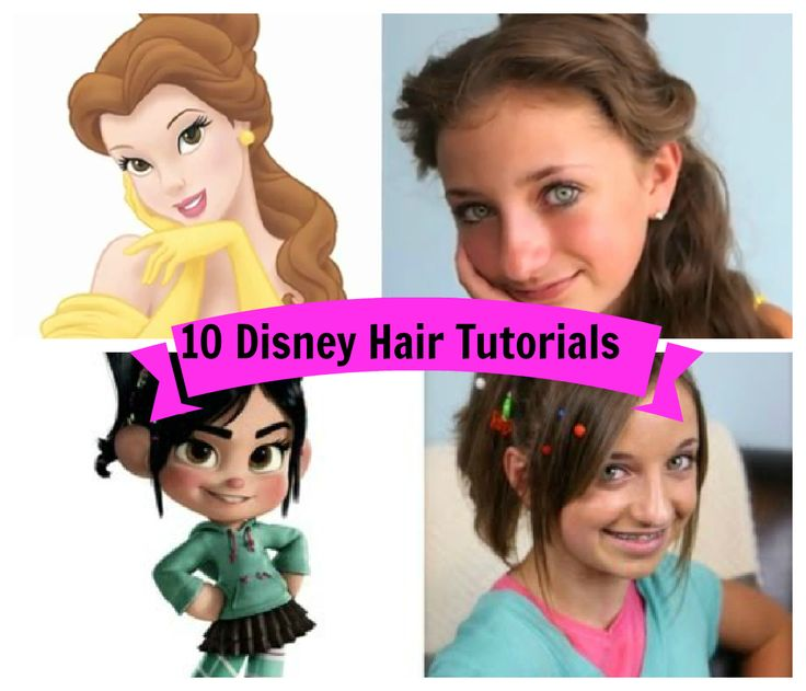 Disney Hairstyles since there are thousands of disney princess hairstyles we have chosen the most demanded and the most common options 10 Disney Inspired Hair Styles Tutorials Via Youtube Videos