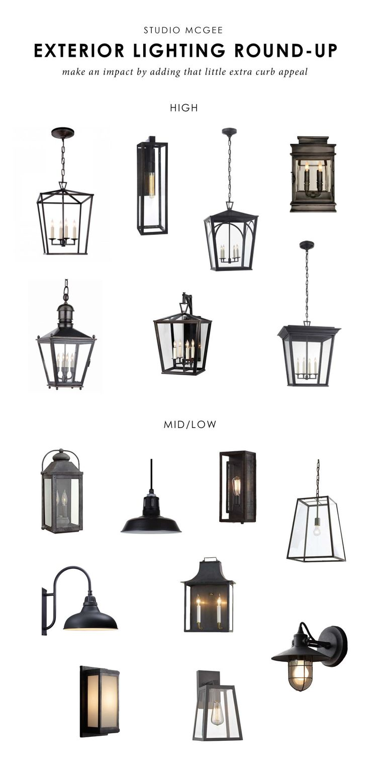 We're sharing our favorite exterior lights!