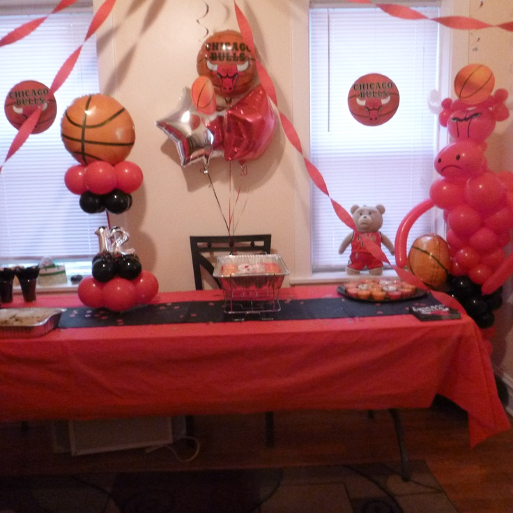 19 best images about chicago bulls birthday on pinterest for Balloon decoration chicago