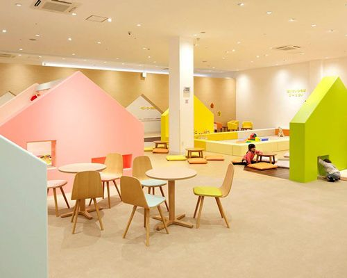emmanuelle moureaux conceives indoor playground as a colorful miniature town