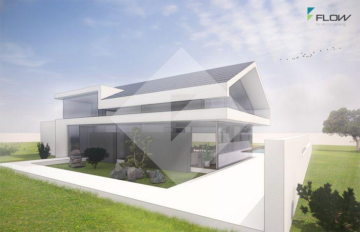 Einfamilienhaus modern satteldach ohne dach berstand by for Architektenhaus satteldach modern