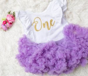 First Birthday Bodysuit with Scoop Back & Ruffles - Complete Sets Available 7