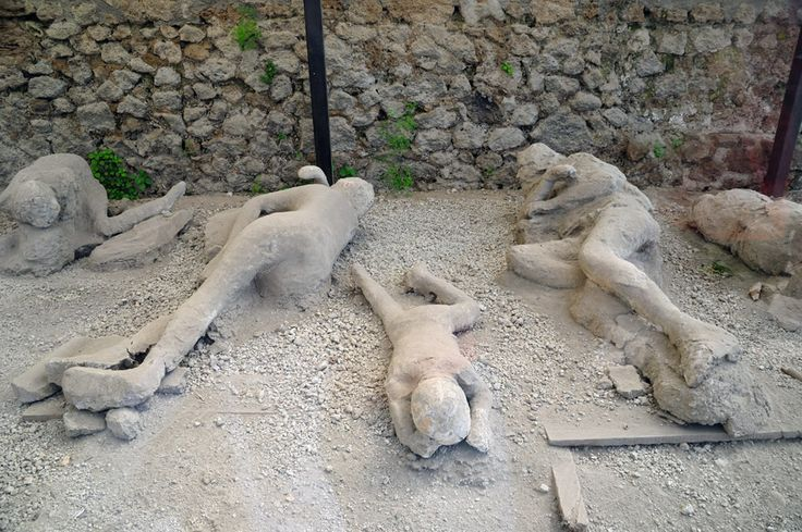 Human Remains in Pompeii