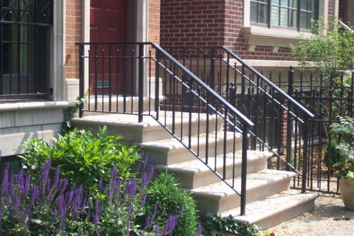 Decoration: Simple Iron Railing For Outdoor Staircase Rod Iron ...