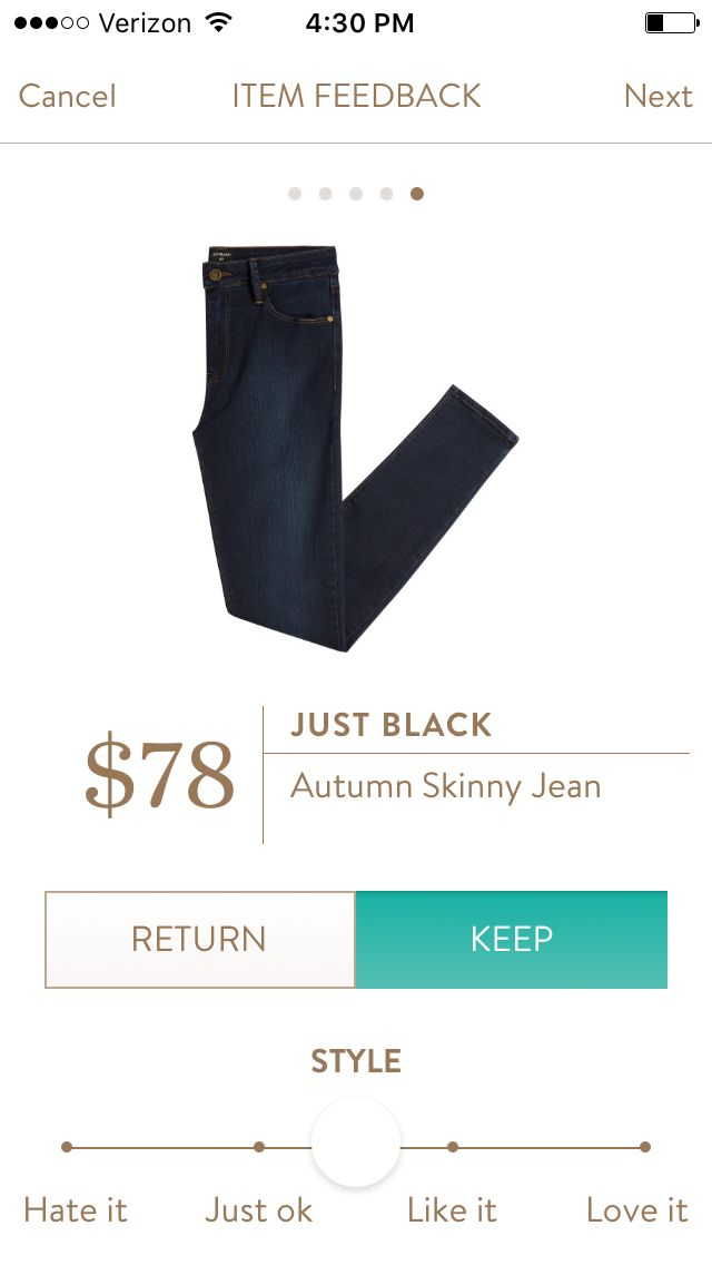 I've worn my Just Black denim skinnies so much that I need a new pair! I would love them in a super dark wash like this.