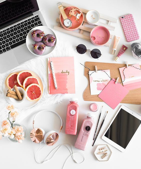 25 best ideas about flat lay photography on pinterest for Millenial pink gifts