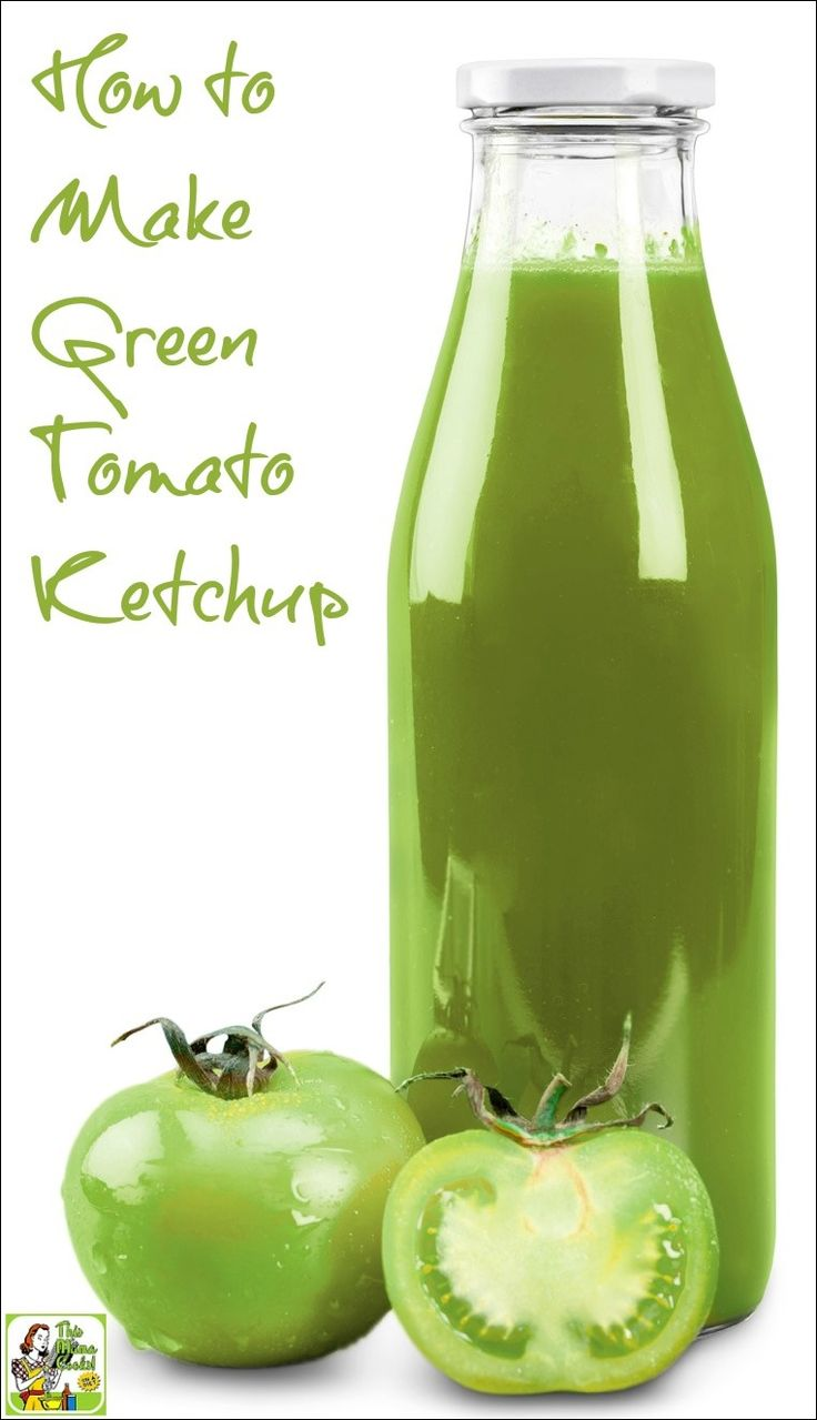Looking for green tomato recipes? Then make this easy green ketchup recipe!