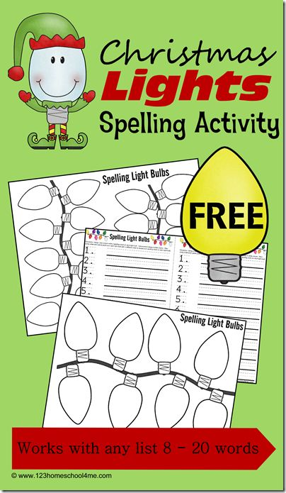 FREE Christmas Spelling Pages