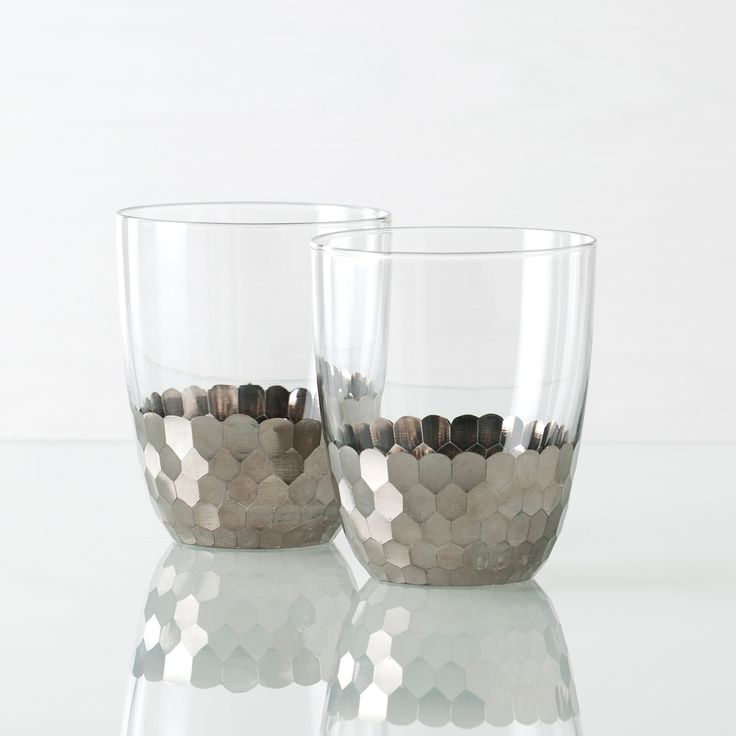 Shiraleah Tabletop Bourbon glasses set of 4. $44 Pretty and rock and