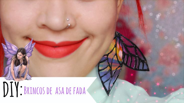 DIY: Brincos de Asas de Fada / Arte com CD