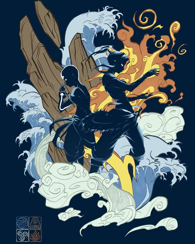 Avatar and The Legend of Korra t-shit design