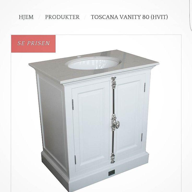 """Nå er vårt lekre servantskap """"Toscana"""" på lager igjen for omgående levering  Et klassisk servantskap med flotte detaljer. Hvit marmor topp med underlimt porselensvask. Underskapet er hvitmalt og leveres ferdig montert. Mål:  Bredde:  80 cm  Dybde:  53 cm  Høyde:  88 cm  Mål på vasken: B:38.5 cm  D: 31 H: 18cm. Pakken måler 063 kubikk ved sending"""