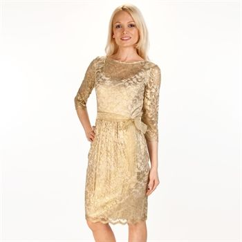 Alex evenings foil lace dress with sash from von maur for Von maur wedding dresses