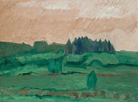 Ahti Lavonen: Maisema, öljy, 46x60 cm - Bukowskis