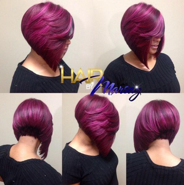 Fantastic Plum Bob @hairbymarsay - Black Hair Information