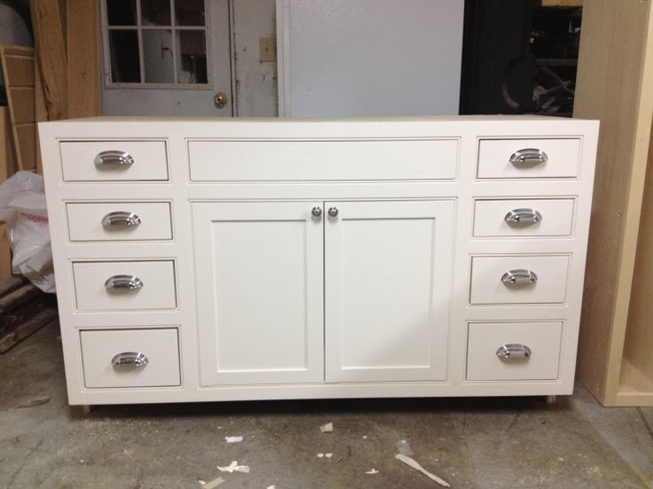 Vanity built with the kreg jig if you build it for Build kitchen cabinets with kreg