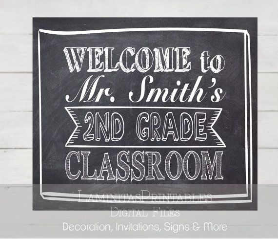 The 25+ best Welcome sign classroom ideas on Pinterest ...