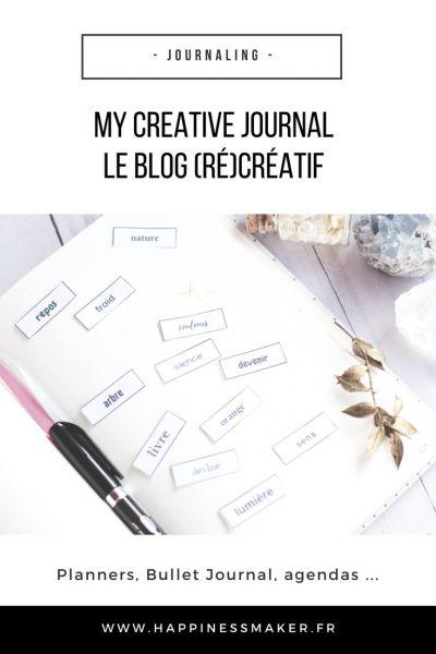 My Creative Journal … Mon nouveau blog 100% (ré)créatif !