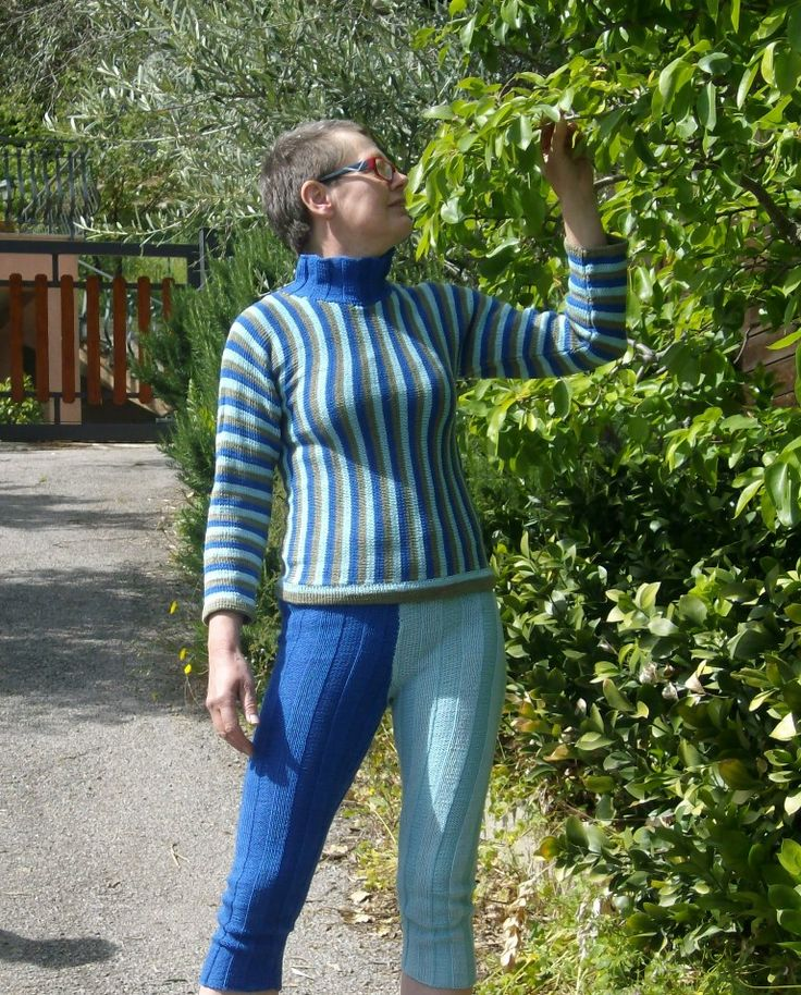 TRAPANI, cosy home wear or pyjamas in DK-weight cotton. Do it yourself - knitting pattern from domoras