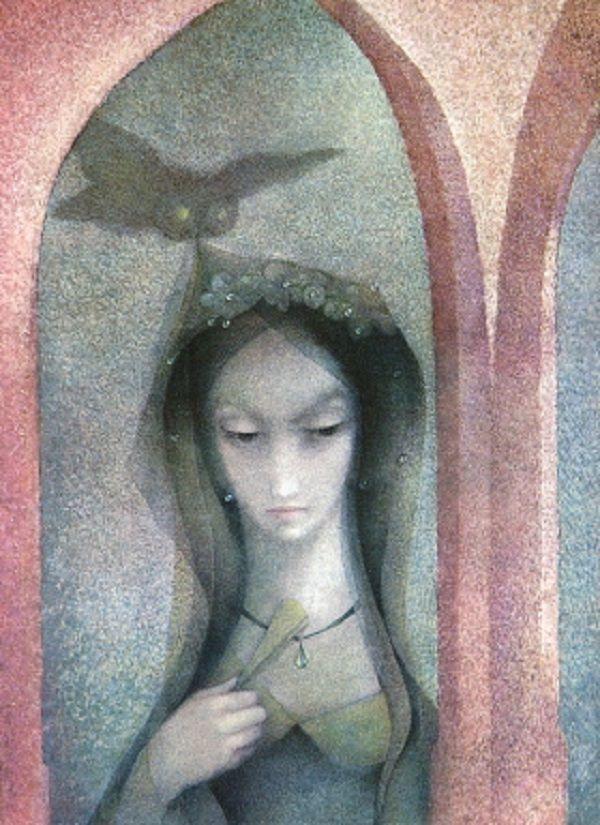 Illustration Ludmila Jiřincová .Swan Lake