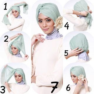 Tutorial Hijab Turban Lebaran 2015 - Mudagaya