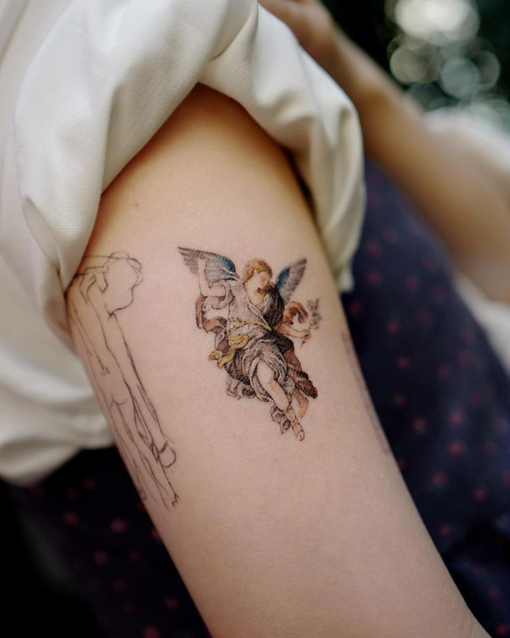 "STUDIOBYSOL_Soltattoo on Instagram: ""Mini size Gabriel💫 . For Floral tattoo…"
