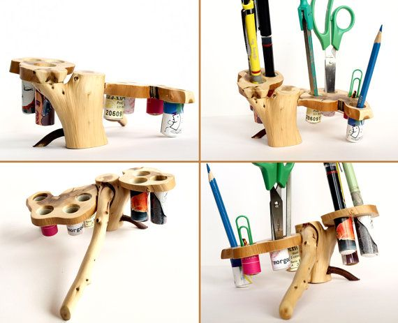 Pencil holder  Pencil town  Wood pencil box  Juniper by Morgod, €35.00