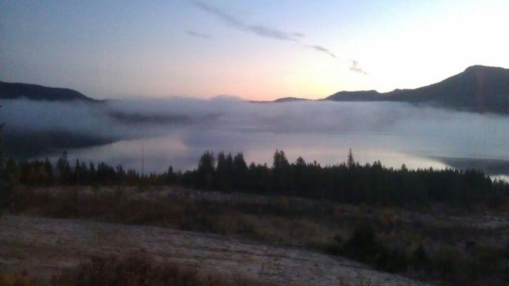 Clouds on Skrede Lake ( Telemark Camping & Inn, Hauggrend Fyresdal, Norway)