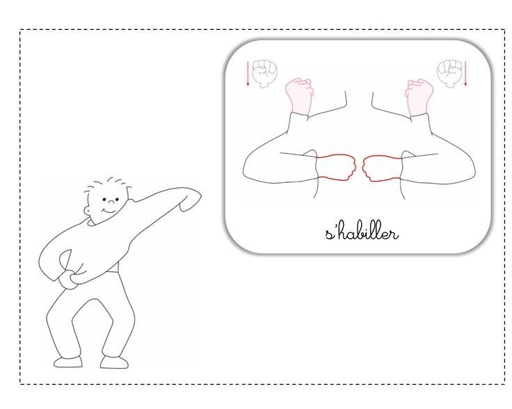 s'habiller LSF illustration