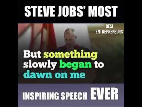Steve Jobs Most Inspiring Speech EVER!