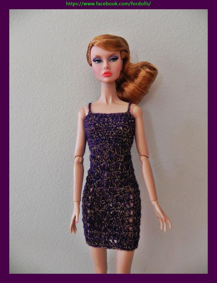 """Vestido para muñecas Fashion Royalty / Integrity / Poppy Parker / Silkstone / muñecas 12"""" de Fordollsboutique en Etsy"""
