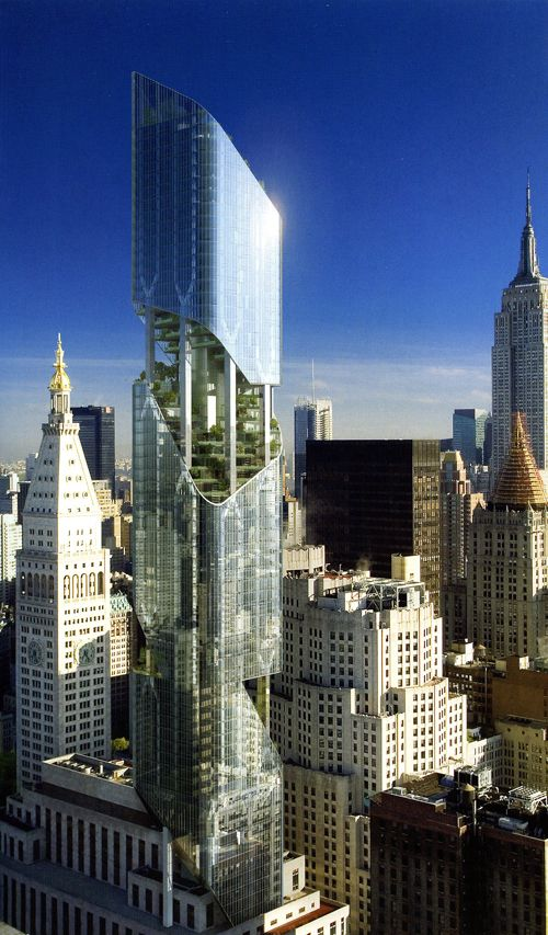 Hanging Garden Tower- NYC - Libeskind Designs