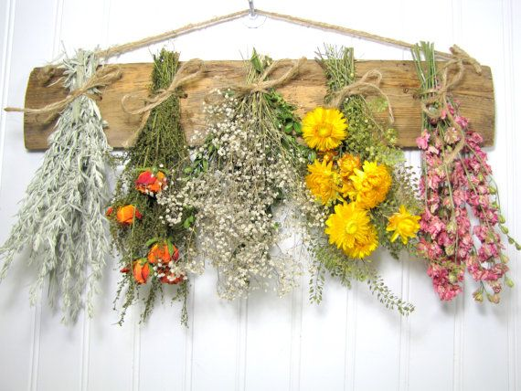 Dried Flower Rack Dried Floral Arrangement di summersweetboutique, $29.00