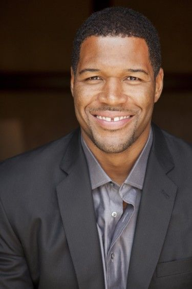 Michael Strahan. Love that cute gap between his teeth!